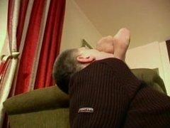 Sensual mistress deep foot sniffing