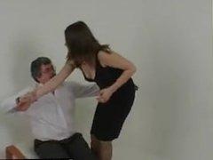 Naughty Woman spanked hard - bondage-dom.com