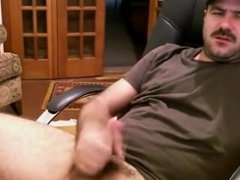 Hairy Daddy Strokes Fat Cock & Cums Again!