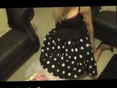 Sissy Satin maid spanked cum by madamec - bondage-dom.com