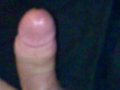 Stroking my hard cock & cumming everywhere