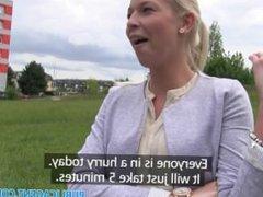 PublicAgent Blonde with big boobs has outdoor sex in public