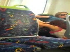 Pussy eating.... on the train
