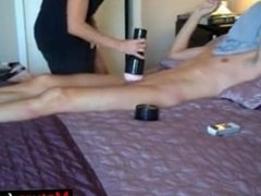 Milf is Helping Out with the Fleshlight - mature-fucks.com
