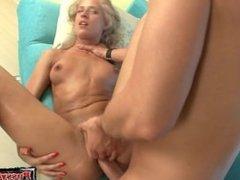 Sexy girl close up blowjob