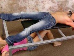 Ticklish Girl in Jeans