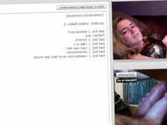 Blonde Playing Sexy On Omegle (2015) - MoreCamGirls.com
