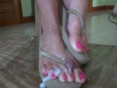 Trample and shoe job. Meet her on dates25.com