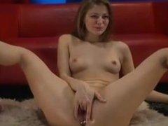 Secret video of cam girl masturbating via DATES25.COM