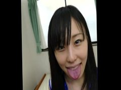 Japanese skinny girl  Dirty tongue