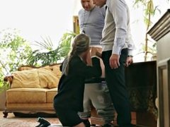Gina Gerson Hard DP for the young 19 years old schoolgirl