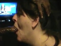 Angie sucking my big black cock. Find her on dates25.com
