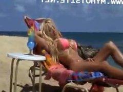 Pamela Anderson Bikini Photoshot in the beach