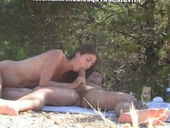 DATES25.COM Amateur oral sex on a romantic picnic scene 3