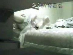 My mom on bed using big dildo caught by hidden cam via DATES25.COM