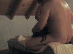 Two chubby whites nail asian lady