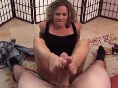 Birthday Footjob with Cumshot