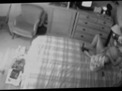 Hidden cam on the closet caught my mum masturbating on bed