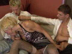 BiMaxx - Perfect Threesome MMF with hot blonde lass.