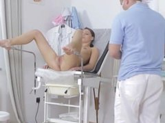 Zuzana schoolgirl came to the medical examination and the doctor to fuck he