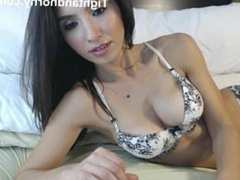 Cute brunette plays with herself on webcam - tightandhorny.com