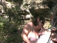 Laura sucking cock at the lake