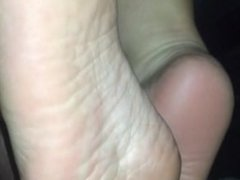 Sole slapping dick