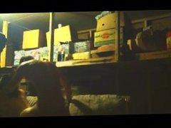 Girl Gets Hammered In A Garage
