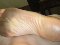 Foot Fetish Gf high arched dirty soles