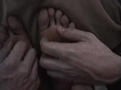 Tickling the masseuse's beautiful bare feet