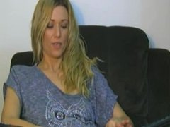 Blonde plays with herself on webcam - tightandhorny.com