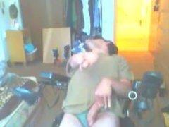 Disabled guy masturbates with dirty talk via DATES25.COM