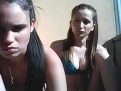 Two girls topless on the balcony from 720cams.com