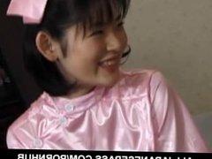 Takako nurse gets doggy style while sucking another joystick