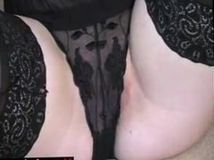 Meet Matures on MATURE-FUCKS.COM - British blonde lass puts on a lacy domme