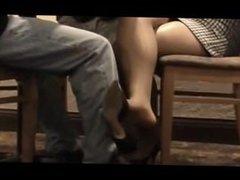 Business meeting leg tease. I met her on dates25.com
