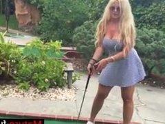 Find her on MATURE-FUCKS.COM - public mini golf sex with big tit Milf