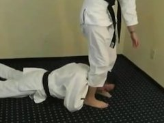 Alexis Grace Karate Foot Domination