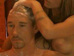Exotic Blonde Massage Tease