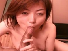 Asian whore sucks cock and gets fucked