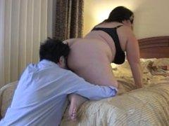 BBW Woman Fart in Slave Face