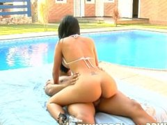 Reality Kings - Busty babe gets fucked by her pool