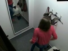 Hot Czech girl changing her clothes in locker room