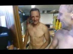 Naked Soccer Team in Showers