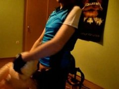 Blow up doll MOUTH FUCK (HORNY CYCLIST)