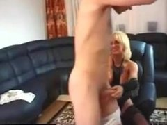 Find her on MATURE-FUCKS.COM - Blond German MILF in stocking is eager