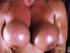 Kathy Connors Playing With Her Pecs