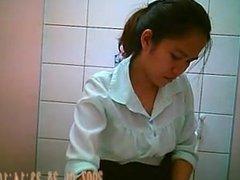 Hidden cam in thai office toilet 2 via 720CAMS.COM