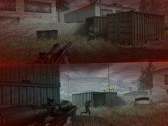 Call Of Duty 4 Split Screen Sniper Action!