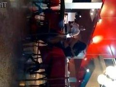 Hot girl have sexy in a public restaurant crazzyyyy drunkkkk